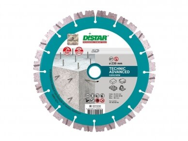 115MM DISTAR TECHNIK ADVANCED Deimantinis diskas betonui