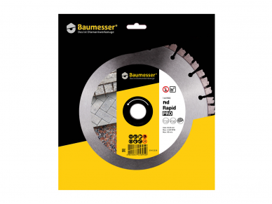 125MM BAUMESSER RAPID PRO Deimantinis pjovimo diskas 5