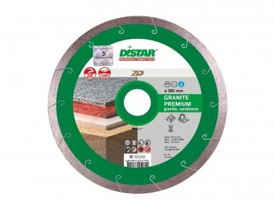 180MM DISTAR GRANITE PREMIUM 7D Deimantinis pjovimo diskas granitui