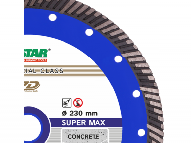 230MM DISTAR SUPER MAX Deimantinis diskas armuotam betonui 2