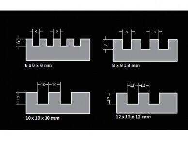 280x115 10mm Pakaitinė dantytos glaistyklės dalis BIHUI 2