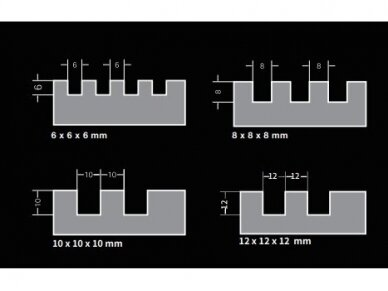 480x130 8mm Pakaitinė dantytos glaistyklės dalis BIHUI 2