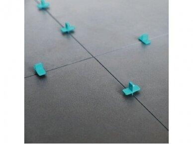 Kryžiukai plytelių tarpams, 1,2,3,4mm briaunos, daugkartiniai 50 vnt. BIHUI 3