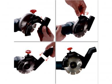 MECHANIC AirDUSTER v2.0 (115-125 mm) Priedas dulkių nusiurbimui 2