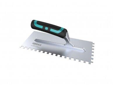 Dantyta glaistyklė 8x8x8mm dantukai, 280x120mm BIHUI