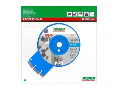 350 MM DISTAR METEOR Deimantinis diskas betonui 3