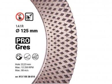 125MM BAUMESSER PRO GRES Deimantinis diskas šlifavimo / pjovimo akmens masei, keramikai 4