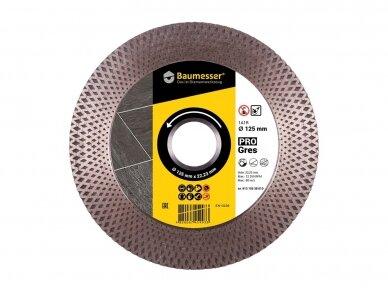 125MM BAUMESSER PRO GRES Deimantinis diskas šlifavimo / pjovimo akmens masei, keramikai