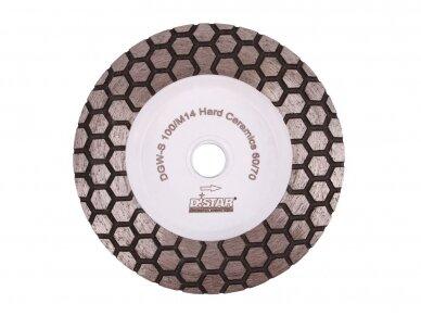 DISTAR 60 HARD CERAMICS Deimantinis plytelių šlifavimo diskas