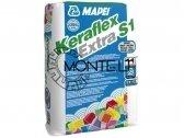Keraflex extra S1 (C2TE S1) cementiniai klijai balti (23 kg) arba pilki (25 kg)