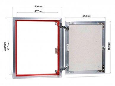 Revizinės durelės, aliuminės (plytelėms) ATP 400 x 500 2