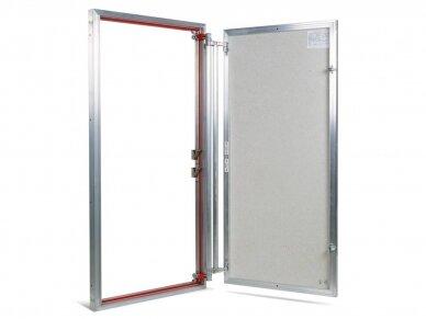 Revizinės durelės, aliumininės ETP 600 x 1200