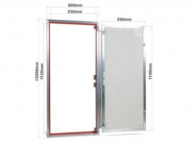 Revizinės durelės, aliumininės (plytelėms) ETP 600 x 1200 3