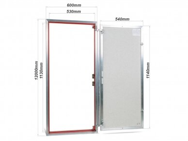 Revizinės durelės, aliumininės ETP 600 x 1200 3