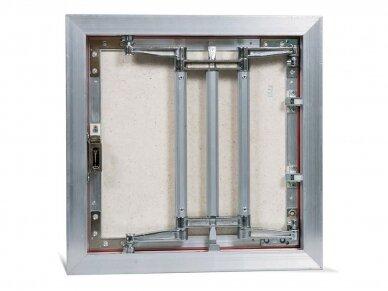 Revizinės durelės, aliumininės (plytelėms) ECKP 400 x 400 3