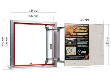Revizinės durelės, aliumininės (plytelėms) ECKP 400 x 400 2