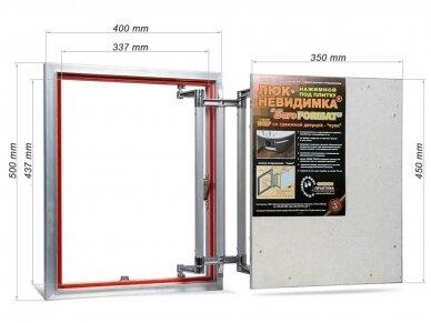 Revizinės durelės, aliumininės ECKP 400 x 500 2