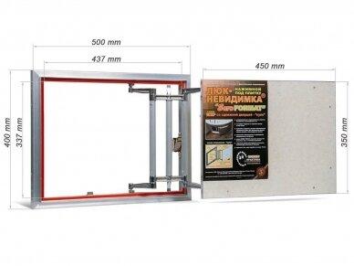 Revizinės durelės, aliumininės (plytelėms) ECKP 500 x 400 2