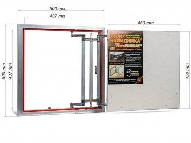 Revizinės durelės, aliumininės ECKP 500 x 500 2