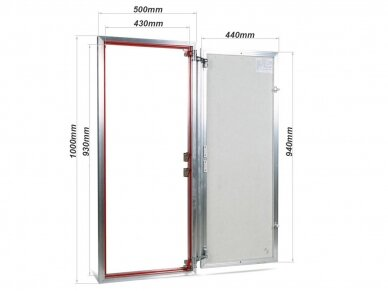 Revizinės durelės, aliumininės ETP 500 x 1000 2