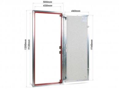 Revizinės durelės, aliumininės (plytelėms) ETP 500 x 1200 2