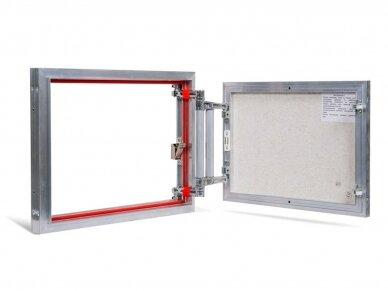 Revizinės durelės, aliumininės ETP 500 x 400