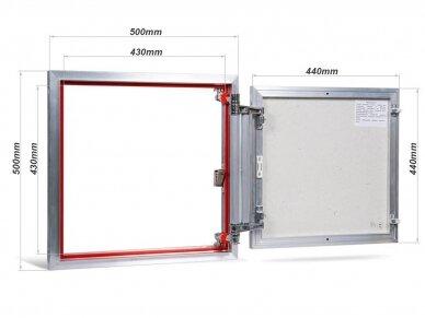 Revizinės durelės, aliumininės ETP 500 x 500 2