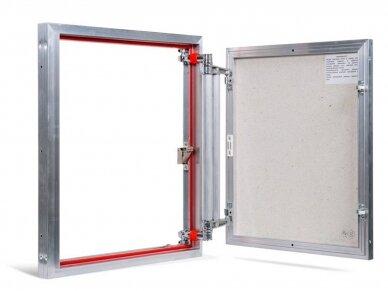 Revizinės durelės, aliumininės ETP 500 x 600