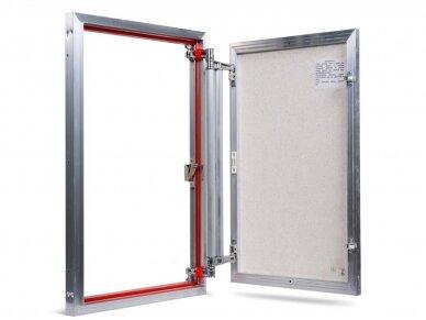 Revizinės durelės, aliumininės (plytelėms) ETP 500 x 700