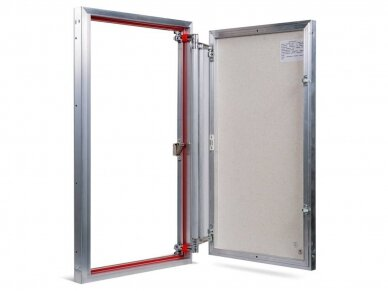 Revizinės durelės, aliumininės ETP 500 x 800