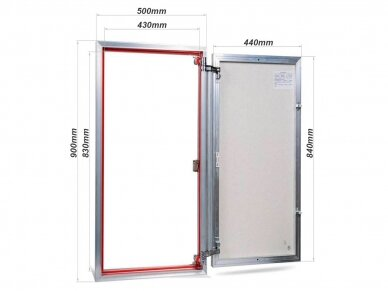 Revizinės durelės, aliumininės (plytelėms) ETP 500 x 900 2
