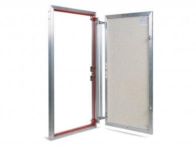 Revizinės durelės, aliumininės ETP 600 x 1000