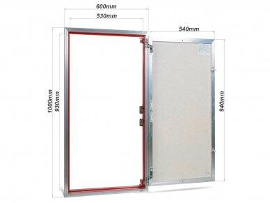 Revizinės durelės, aliumininės ETP 600 x 1000 2