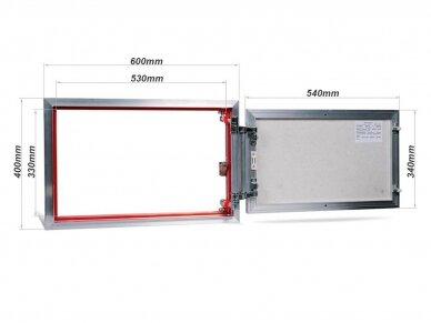 Revizinės durelės, aliumininės (plytelėms) ETP 600 x 400 2