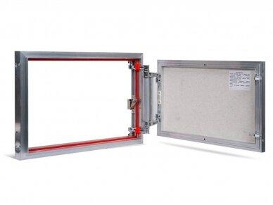 Revizinės durelės, aliumininės ETP 600 x 400
