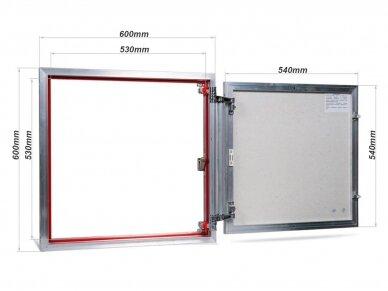 Revizinės durelės, aliumininės (plytelėms) ETP 600 x 600 2