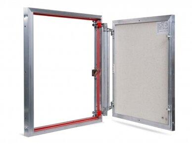 Revizinės durelės, aliumininės ETP 600 x 700