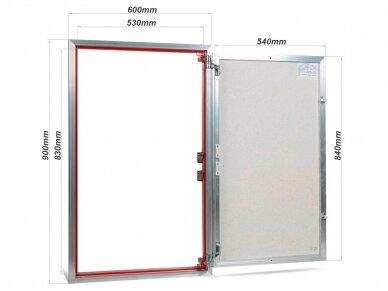 Revizinės durelės, aliumininės ETP 600 x 900 2