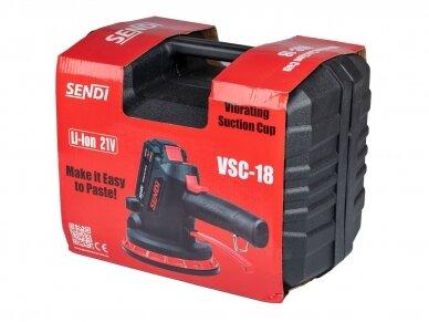 Vibro padas / pritraukėjas plytelėms akumuliatorinis SENDI VSC-18 7
