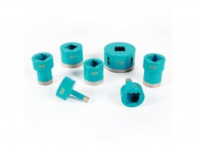 50mm deimantinė karūna plytelėms X Lock jungčiai BIHUI